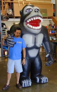 inflatable costumes gorilla